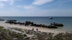 Sea-Doo RXP-X 260 at Pine Key in Tampa Bay Florida