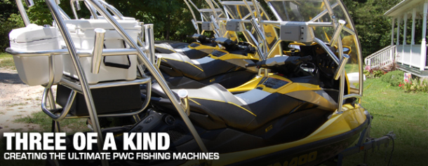 Three of a kind creating the ultimate fishing machines for Jet ski fishing setup