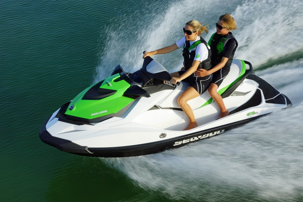 2013 Sea-Doo GTS 130 action shot on the water