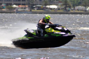 JAMES BUSHELL - EUROPEAN PRO STOCK CHAMPION ON HIS SEA-DOO RXP-X