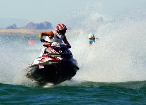 Jean-Baptiste Bottie, the new 2014 PRO OPEN World Champion on his Sea-Doo RXP-X