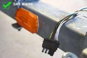 Ensure wires are strong and have the protective coating intact.