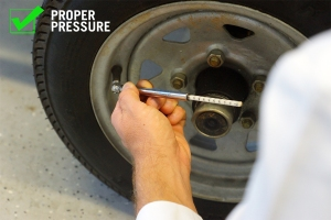 Ensure the tire pressure is at the proper PSI.