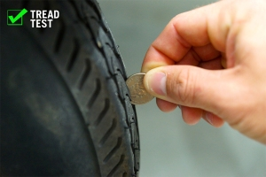 The quarter rule can help determine tire tread health
