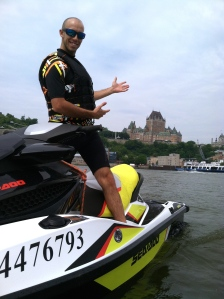 Sea-Doo perspective of Quebec City