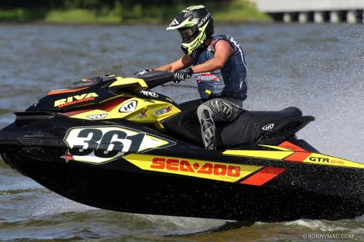 Eric Lagopoulos aboard the #361 Sea-Doo GTR 215