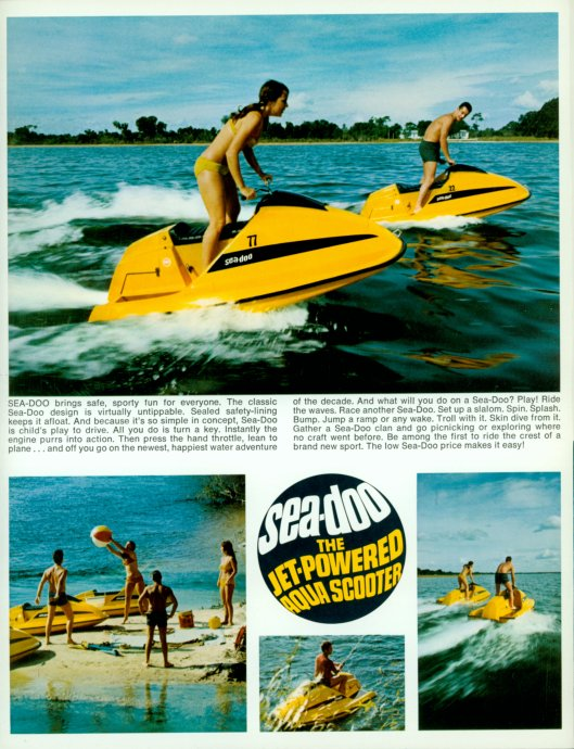 1968 Sea-Doo. First jet-powered aqua scooter.